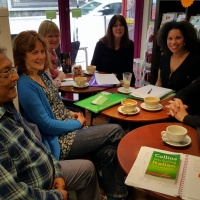 Alesha and her students during the Italian Masterclass lesson at Nonna Rosa's Café/Deli